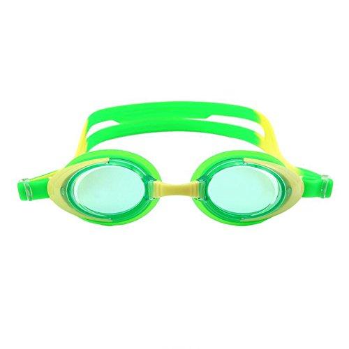 HONEY Freizeit Schwimmbrille Für Kinder  6-12 Jahre Alt HD Anti-Fog Transparent Professionelle Jungen Und Mädchen Tauchausrüstung (Farbe : Grün) (9 Tauchausrüstung)
