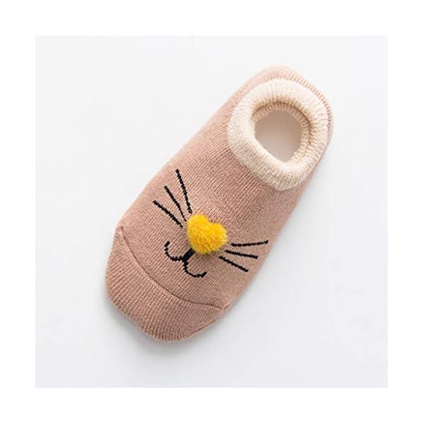 ZOOMY Baby Girls Boys Calcetines Antideslizantes para niños pequeños con agarres Calcetín de Piso de Dibujos Animados… 3