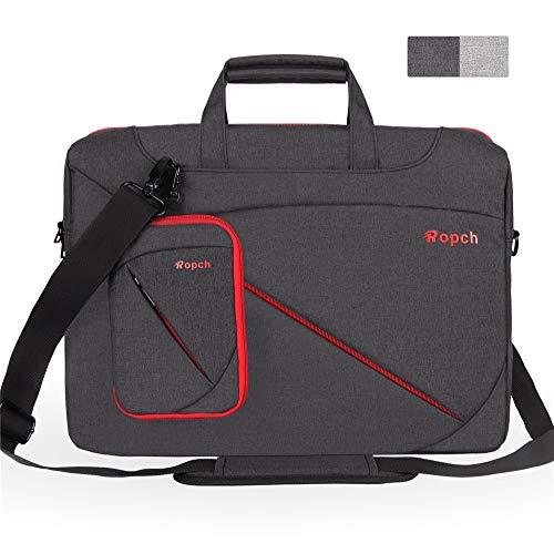 Großraum-Mode 17,3-Zoll-Laptop-Tasche Universal-Computer-Messenger-Tasche, wasserfeste Business-Aktentasche aus Nylon mit Tragegriffen, Tragegurt für den Schultergurt für Tablet / Notebook - Schwarz G