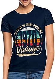 Spreadshirt Verjaardag 1970 Vintage Retro 50 jaar Vrouwen T-shirt