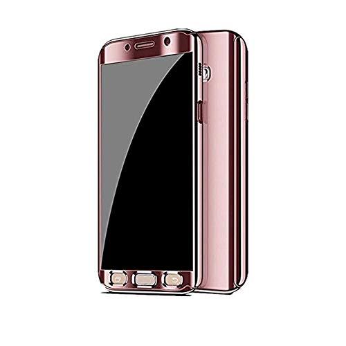 Kompatibel mit Samsung Galaxy S7 Hülle, Samsung Galaxy S7 Edge Hüllen 3 in 1 Ultra Dünner PC Harte Case 360 Grad Ganzkörper Spiegel Schutzhülle für Galaxy S7/S7 Edge (Samsung Galaxy S7, Roségold)