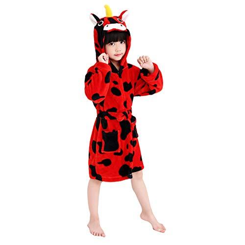 0dcbbb10bb201 XINNE Licorne À Capuche Peignoir Garçons Filles Flanelle Pyjamas Bata  Unisexe Bébé Vêtements De Nuit Automne