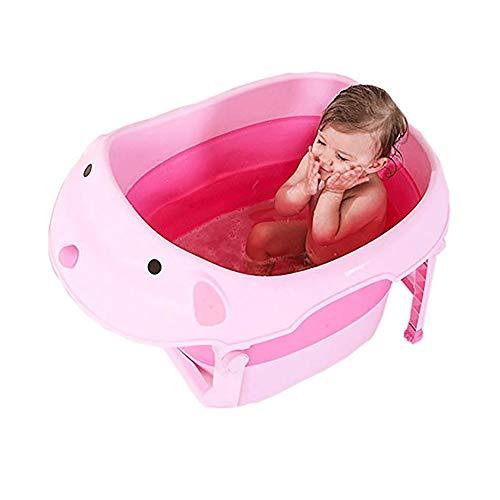 YYQ Baby Bathtub Folding Bathtub Children's Bathtub Thicker Insulated Bathtub Multifunctional Bathtub (Seat) (Color : Pink)