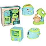 IndusBay® Kitchen and Household Utility Toy Set for Kids Working Household Appliances Set ( OTG, Mixer, Egg Boiler, Toaster )