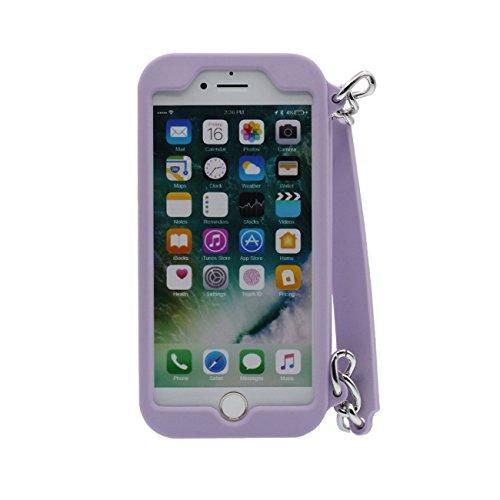 iPhone 7 Plus Copertura Protettiva Borsetta Forma Serie morbido Silicone Plastica Custodia Case per Apple iPhone 7 Plus 5.5 inch ( Nero ) viola