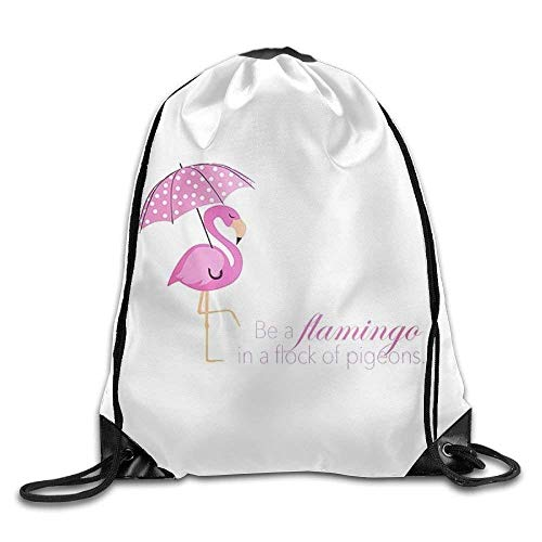 Sporttasche mit Kordelzug, Sportrucksack, Reiserucksack, Flying Flamingos Print Drawstring Backpack Rucksack Shoulder Bags Sport Gym Bag for Men and Women - Elite-basketball-tasche