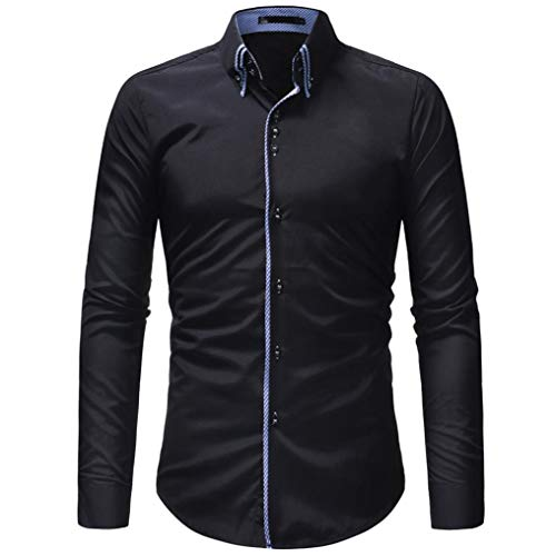 f96d2ff8e4025c Luckycat Herren Herbst Casual Formale Slim Button Down Langarm Kleid Shirt  Top Bluse Mode 2018