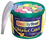 Enlarge toy image: Coloured Chalk For Children Tub Of 20 Giant  Assorted Colours -  preschool activity for young kids