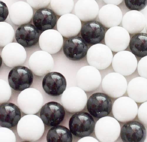 500G negro y blanco mezcla de cristal decorativo con canicas 16mm