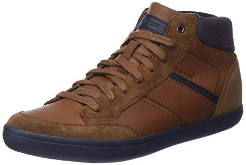 Geox Herren U Box E Hohe Sneaker, Braun (Cognac/Navy C6176), 41 EU