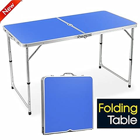 popamazing 4ft Aluminum Portable Folding Camping Picnic Party Dining Table