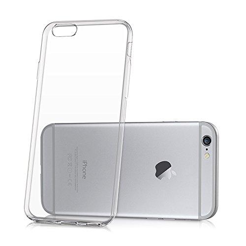 VComp-Shop® Ultra dünne Silikon Handy Schutzhülle für Apple iPhone 6 Plus/ 6s Plus + Großer Eingabestift - TRANSPARENT TRANSPARENT