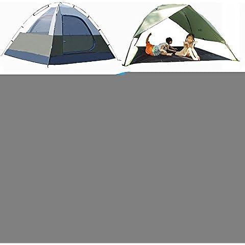 LJNAl aire libre a prueba de viento de la tormenta 3-4 persona tiendas de campaña ,Azul de cielo,3-4 personas