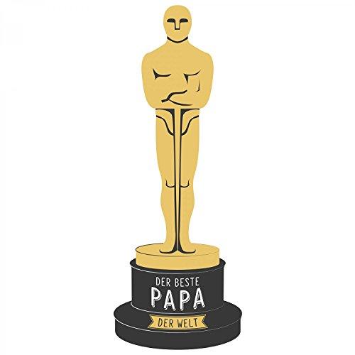 Fashionalarm Herren T-Shirt - Oscar - Der beste Papa der Welt   Fun Shirt mit Spruch als Geschenk Idee für ausgezeichnete Väter Weiß