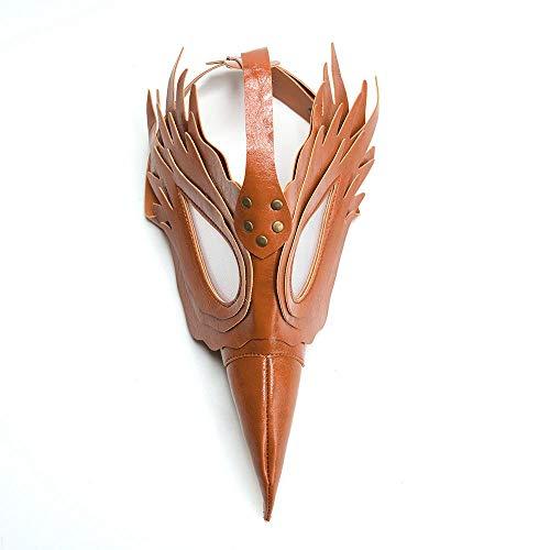 (AOLVO Pest-Doktor-Maske, Kunstleder-Vogel-Schnabel-Maske-Lange Nase Cosplay Steampunk Pest-Doktor-Maske für Weihnachtsfeier und Rolle, Die Partei Spielen)