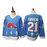 Yajun Forsberg?21/ Stastny?26 Quebec Nordiques Eishockey Trikots Jersey NHL Herren Sweatshirts Atmungsaktiv T-Shirt Bekleidung -