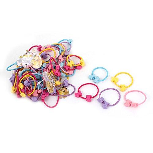 50 Pièces Multicolore Chiens Forme Élastique Queue De Cheval Support Cheveux Cravates
