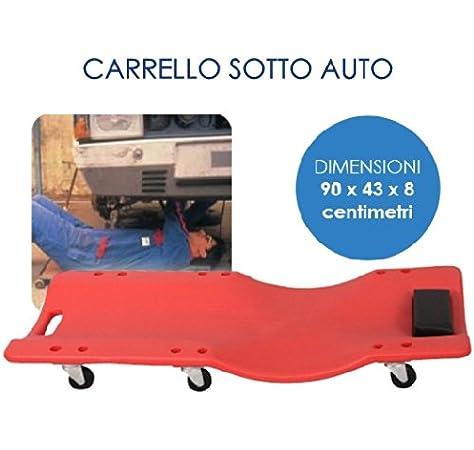 CARRELLO SOTTOAUTO IN PLASTICA A 6 RUOTE