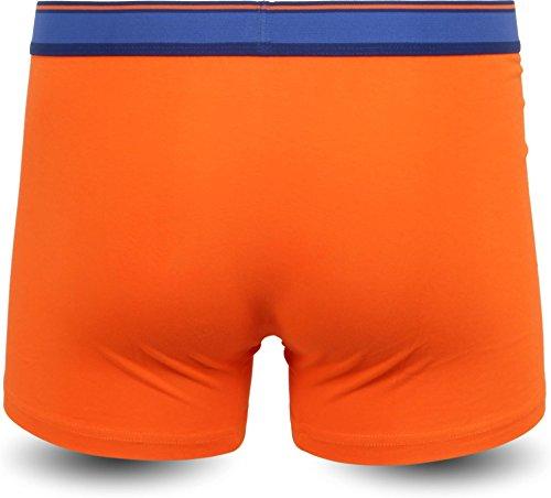 4 × Herren Boxershorts Retropants Stretch Baumwolle - verschiedene Farben - exkluxive Motive Sporty Orange