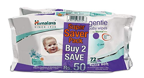 Himalaya Gentle Baby Wipes (72Napkins of 2 Packs)
