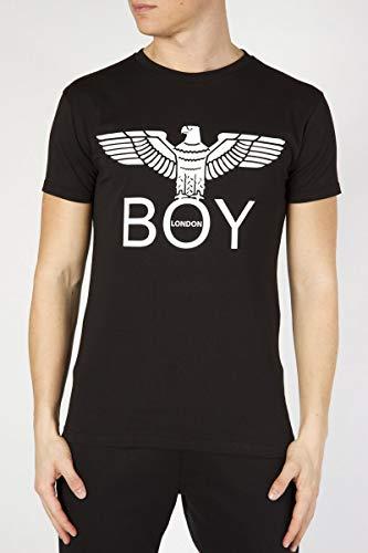 Boy London T-Shirt Uomo Nero Basic girocollo Stampa Con Logo BLU6002 -