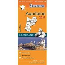 Carte Aquitaine Michelin 2017