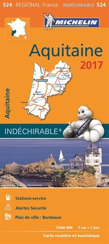 Carte Aquitaine Michelin 2017