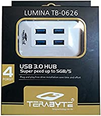 Terabyte USB 3.0 4 Ports High-Speed USB Hub for Desktop and Laptop for Connecting 4 Devices
