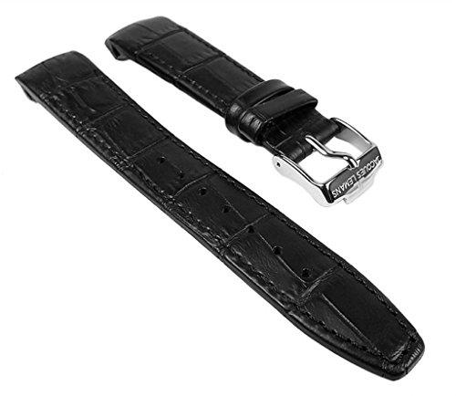 Jacques Lemans Ersatzband Uhrenarmband Kalbsleder Band schwarz 18mm für 1-1571