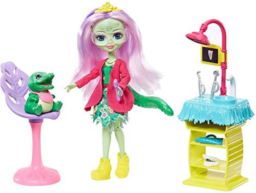 Enchantimals Vamos al dentista, muñeca Andie Alligator con mascota y accesorios (Mattel GFN55)