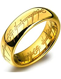 00c487b83e3 YouBella Jewellery 100% Stainless Steel 18K Gold Plated Ring for Boys and  Men