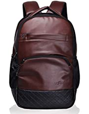 "F Gear LuXur Synthetic Leather Brown 16.5"" Laptop Backpack (2404)"