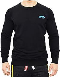 SMILODOX Men`S Sweatshirt Basic, Color Black, Size:L