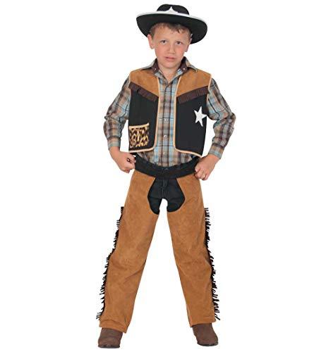 Kinderkostüm Texaner Karneval Cowboy und Indianer Kuhjunge Wilder Westen wild West Kostüm für Kinder (140)
