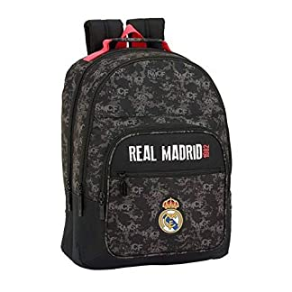412ZOt8b ML. SS324  - Real Madrid CF- Real Madrid Mochila, Color Negro (SAFTA 611924560)