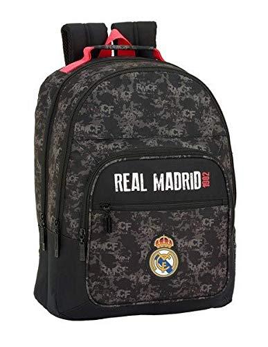 safta Mochila Doble Adapt.CARRO REAL Madrid BL 32 x 42 x 16 Multicolor (611924560 (Del Mochilas Madrid)