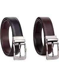 Rudraksh Enterprises Men's Leather Casual and Formal Belts (Brown)