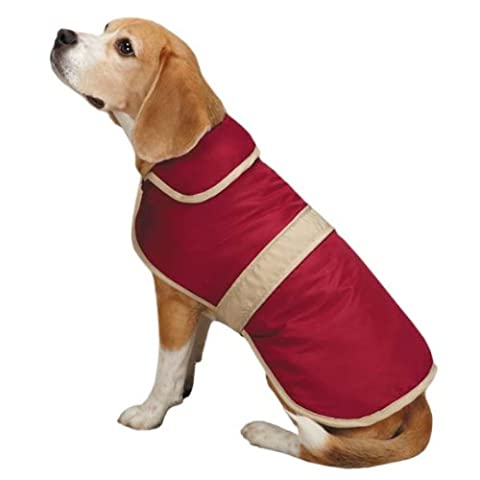 Casual Canine Barn Coat for Dogs, 12 Small, Cranberry by