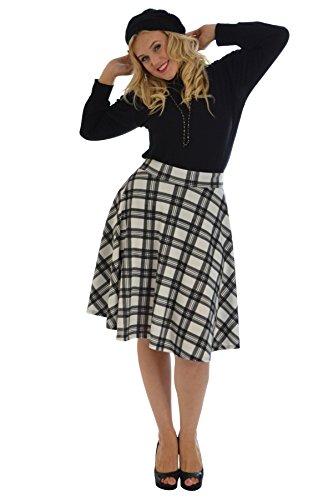 Nouvelle Collection Tartan Skater Skirt White 16