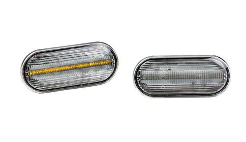 Preisvergleich Produktbild Premium Clear Klarglas LED Seitenblinker Blinker Links Rechts 0610