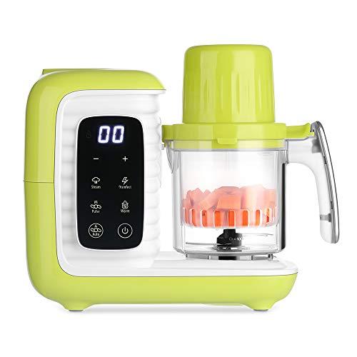 Zanmini Procesador de Alimentos para Bebés y Ancianos, para Vaporizar, Batir y Calentar, 6 en 1 Robot de Cocina para Bebé, Bajo Consumo de Energía, Procesador Multifuncional, Libro de recetas incluido