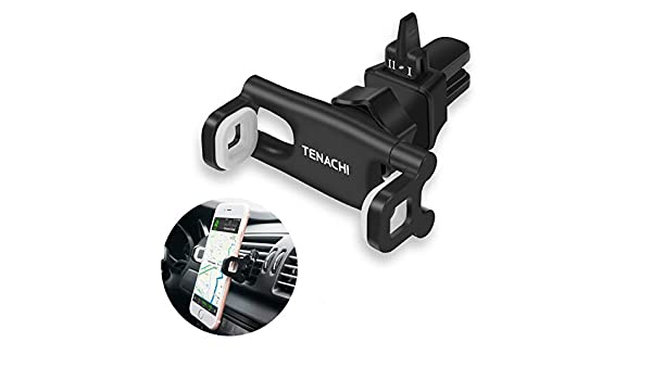 TENACHI Car Air Vent Cell Phone Holder Mount Universal Mobile Phone Smartphone Holder Compatible with iPhone 11 Pro XS Max XR X 8 8P 7 7P 6S 6P 6 Samsung Galaxy S10 S9 S8 S7 S6 Nexus LG Sony