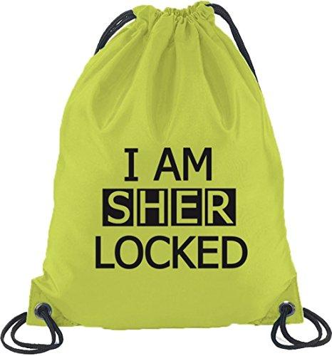 Shirtstreet24, Sono Sher Locked, Giradischi Zaino Sport Beutel Limone