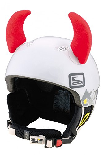 Crazy Ears Helm-Accessoires Hörner Teufel Rot Ohren Ski Snowboard Motorrad Fahrrad, CrazyEars:Rote Hörner Groß (8.5cm) -