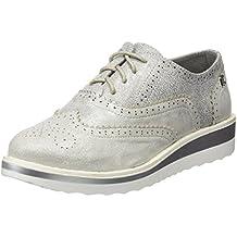 ZQ hug Zapatos de mujer - Tacón Plano - Punta Cuadrada - Oxfords - Casual - Semicuero - Negro / Rojo / Blanco , white-us7.5 / eu38 / uk5.5 / cn38 , white-us7.5 / eu38 / uk5.5 / cn38
