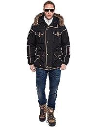 Nebulus Q305 Gstaad - Abrigo para hombre negro negro Talla:extra-large