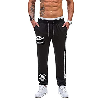FIRSS Männer Muster Hosen   Bedruckt Jeanshosen   Kordelzug Jogginghose   Taschen Outdoorhose   Einfarbig Winterhose   Mode Elegante Llässig Pants