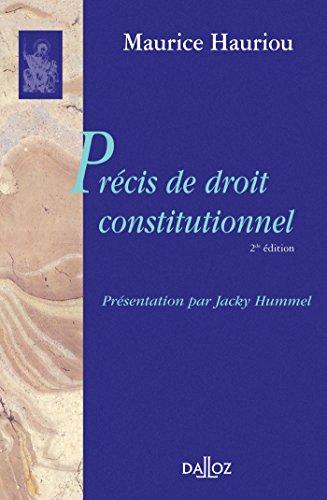 Précis de droit constitutionnel par Maurice Hauriou