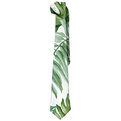 Men's Tropical Palm Leaf Soft Fashion Novelty Necktie Tie Neck Tie