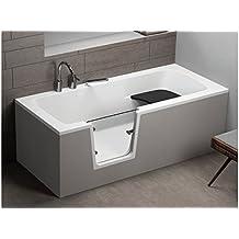 Vasca Da Bagno Con Sedile Integrato.Amazon It Vasca Da Bagno Con Sportello